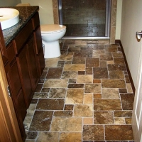 custom flooring bathroom remodel withita