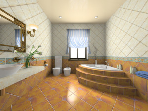 Interior of the modern bathroom